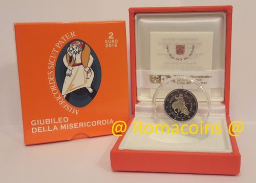 2 Euro Commemorative Coin Vatican 2016 Proof Jubilee Mercy