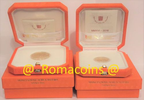Vatican 20 + 50 Euro 2016 Gold Coins Proof