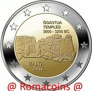 2 Euro Sondermünze Malta 2016 Münze Gigantia