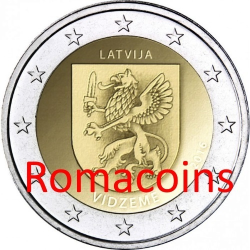 Stork uncirculated coin from roll 2 € Euro commemorative coin 2015 LATVIA