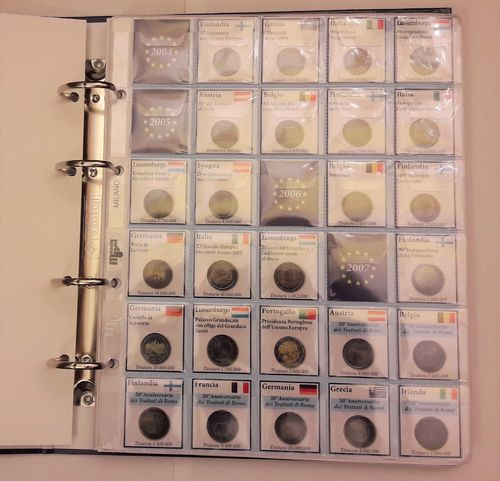 Album Binder 2 Euro Commemorative Coins 2016 - 2004