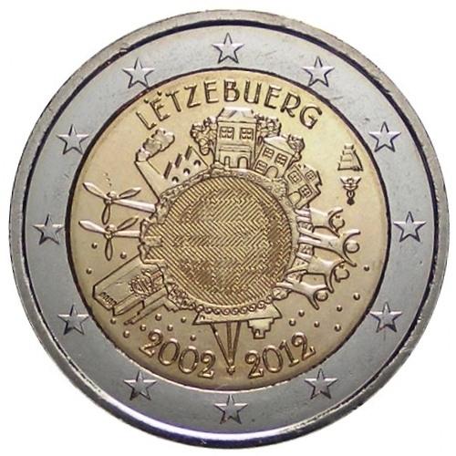 2 /€ Estonia 2012 10 Anniversario delle Banconote e Monete in Euro