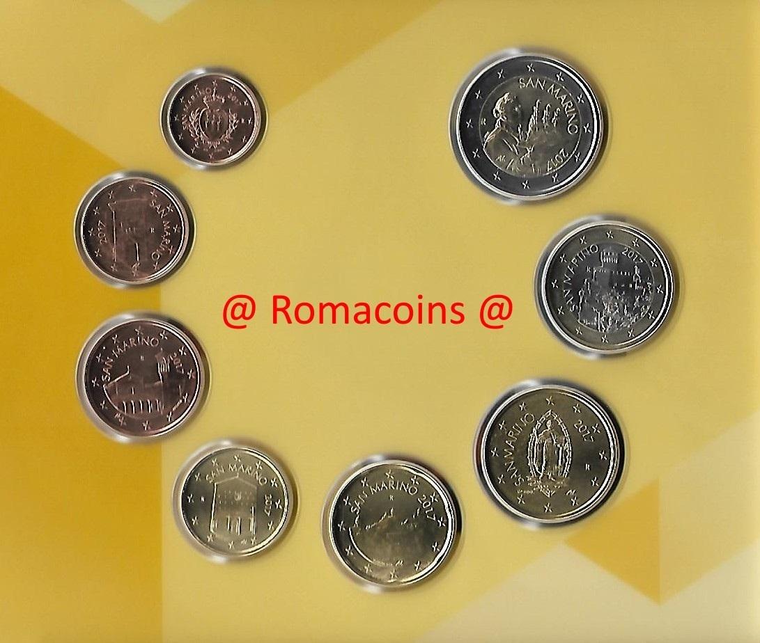 San Marino Bu Set 2017 Euro 8 Coins Romacoins