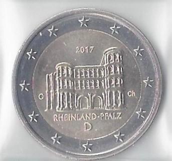 2 Euros Commémorative Allemagne 2017 Porta Nigra Rheinland Romaco