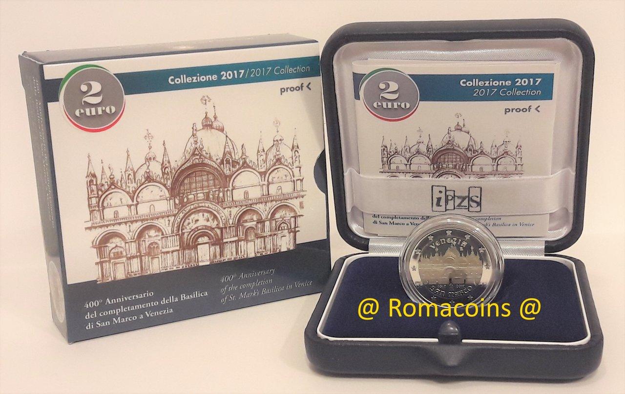 2 Euro Sondermünze Italien 2017 Pp San Marco Polierte Platte Ro