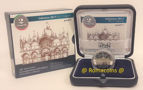 2 Euro Commemorative Italy 2017 Proof San Marco Venice