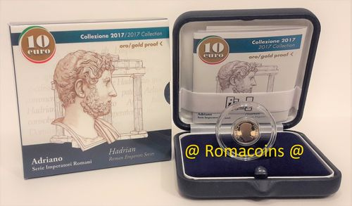10 Euro Italy 2017 Emperor Hadrian Gold Coin Proof
