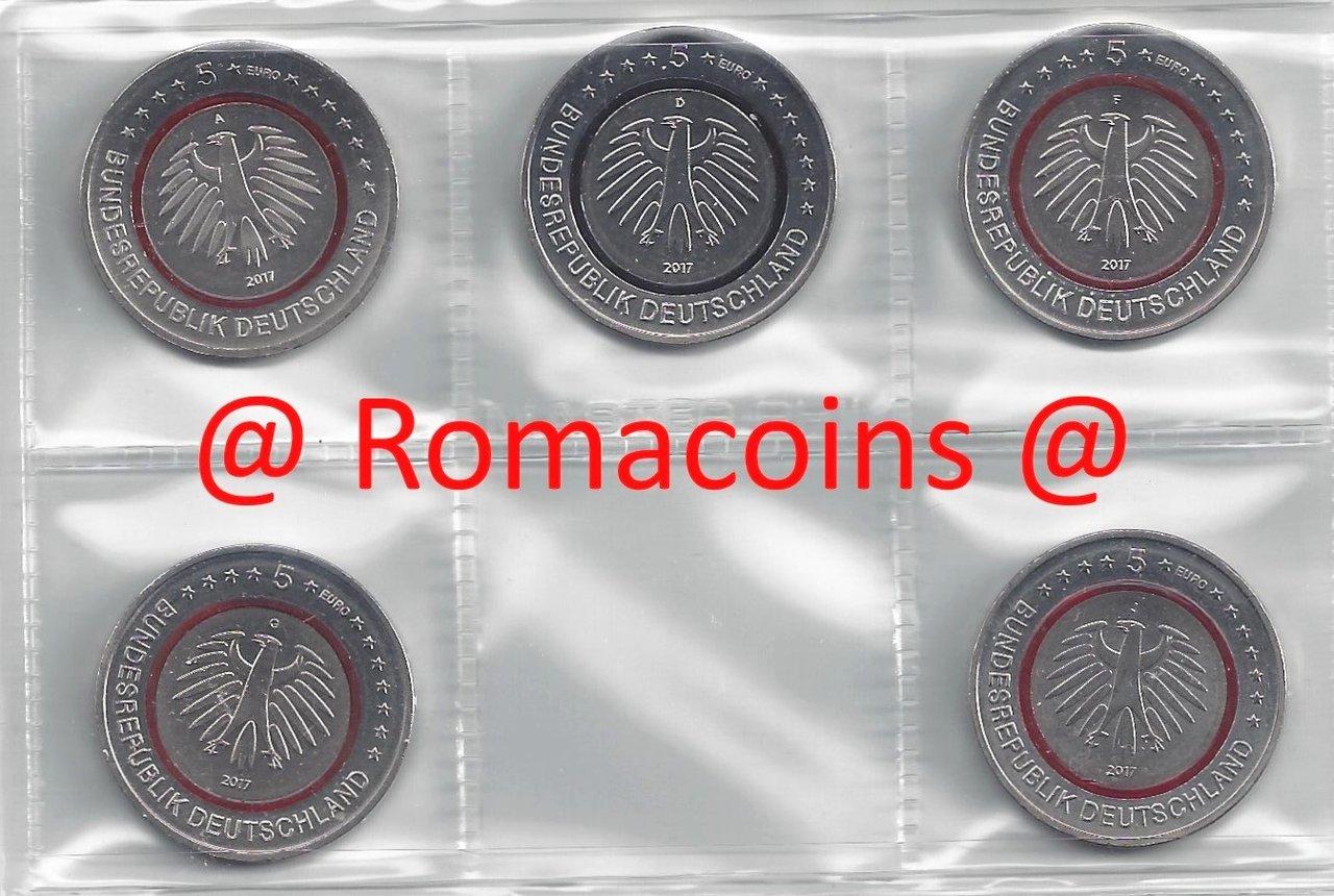 5 Euro Deutschland 2017 Tropische Zone Münzen 5 Sachsen Romacoin