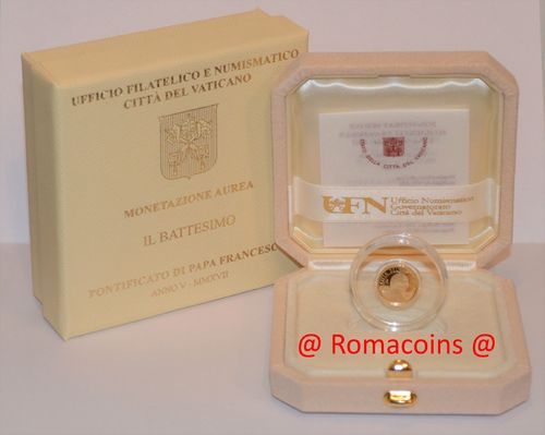 10 Euro Vatican 2017 Gold Coin Proof Baptism