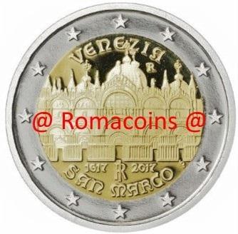 2 Euro Sondermünze Italien 2017 San Marco Venezia Münze Romacoin