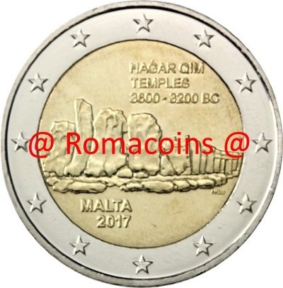 2 Euro Sondermünze Malta 2017 Hagar Qim Tempel Münze