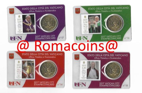 4 Vatican Coincard 50 cents Year 2017 Pope Francis