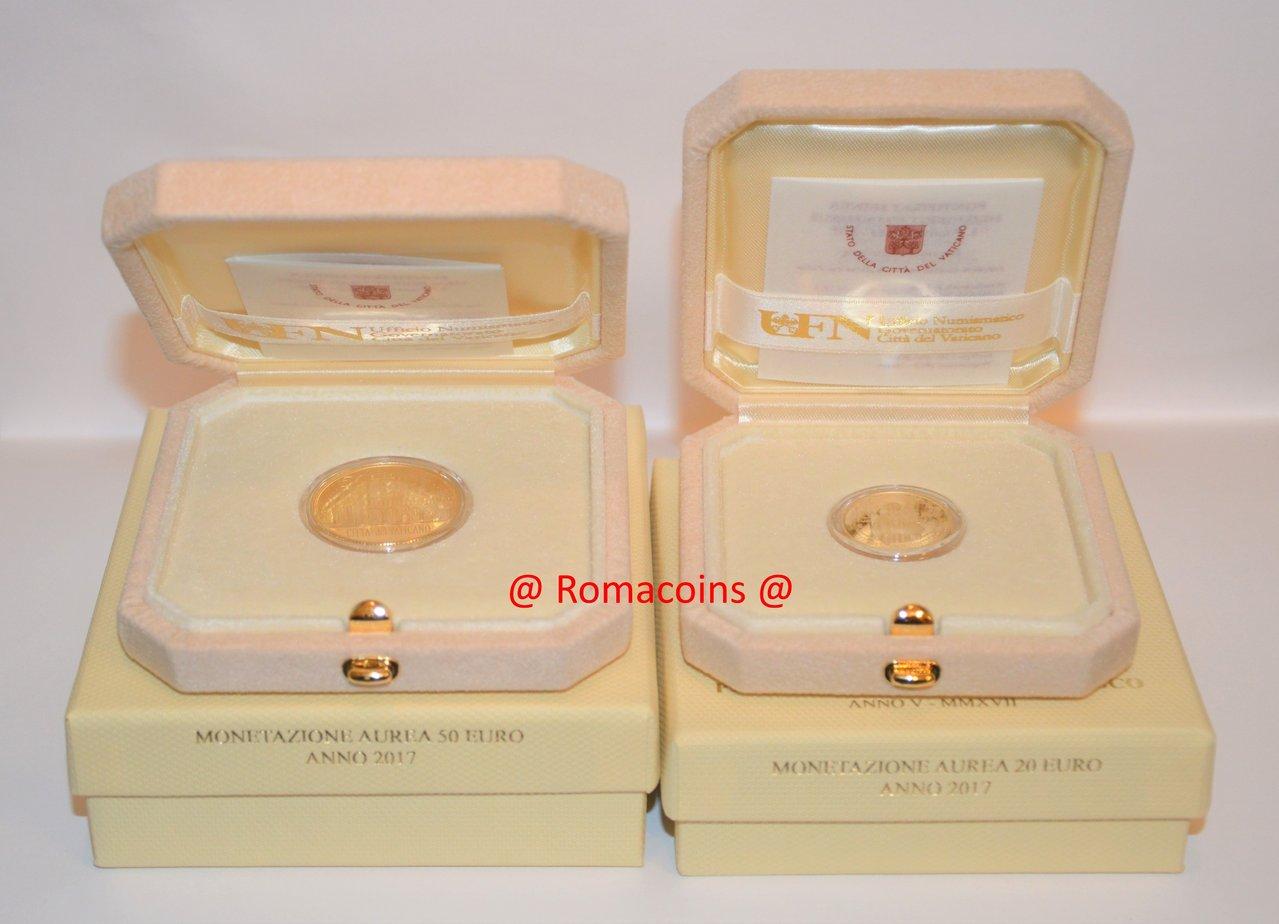 Vatikan 20 50 euro 2017 goldm nzen polierte platte romacoins - Sterlina oro 2017 fondo specchio ...