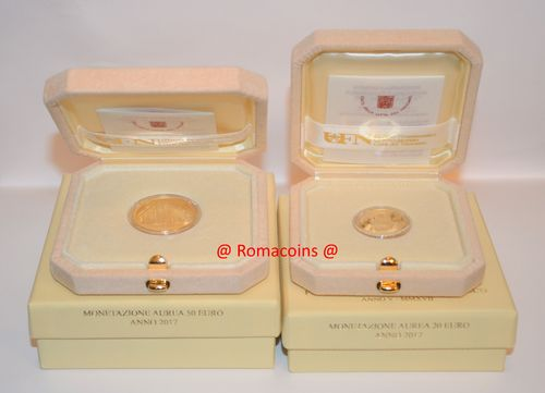 Vatican 20 + 50 Euro 2017 Gold Coins Proof
