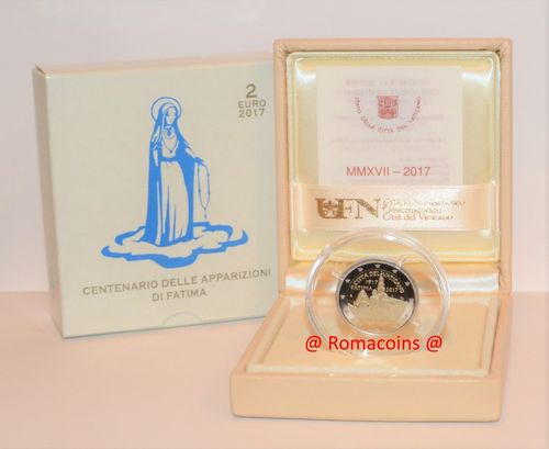 2 Euros Vaticano 2017 Virgen de Fátima Moneda Proof