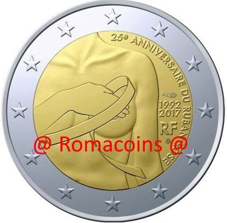 2 Euro Commemorative Coin France 2017 Breast Cancer Fight
