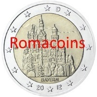 2 Euro Commemorativi Germania 2012 Neuschwanstein Zecca J