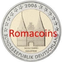 2 Euro Commemorativi Germania 2006 Holstein Fdc Zecca D