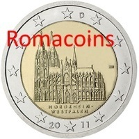 2 Euro Commemorativi Germania 2011 Nordrhein-Westfalen
