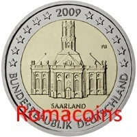 2 Euro Commemorativi Germania 2009 Saarland Fdc