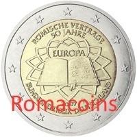 2 Euro Deutschland 2007 Römische Verträge Prägebuchstabe A Romaco