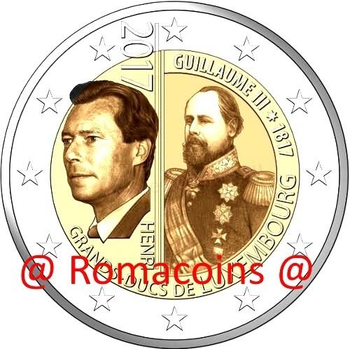 2 Euro Sondermünze Luxemburg 2017 Wilhelm Iii Romacoin