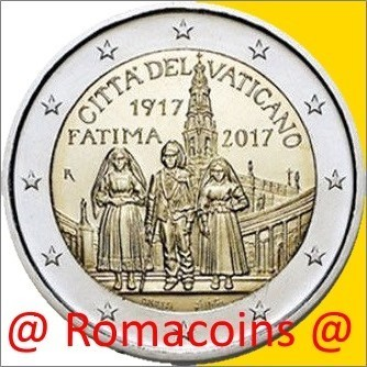 2 Euro Commemorative Vatican 2017 Fatima without folder