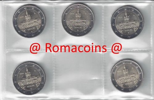 2 Euro Commemorative Coins Germany 2018 5 Mints Charlottenburg