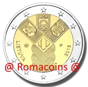 2 Euro Commemorative Coin Lithuania 2018 Baltic States