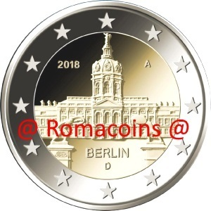2 Euro Commemorative Coin Germany 2018 Charlottenburg Random Mint