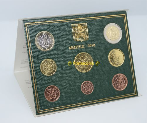Vatican Bu Set 2018 with Pope's Coat of Arms Euro New