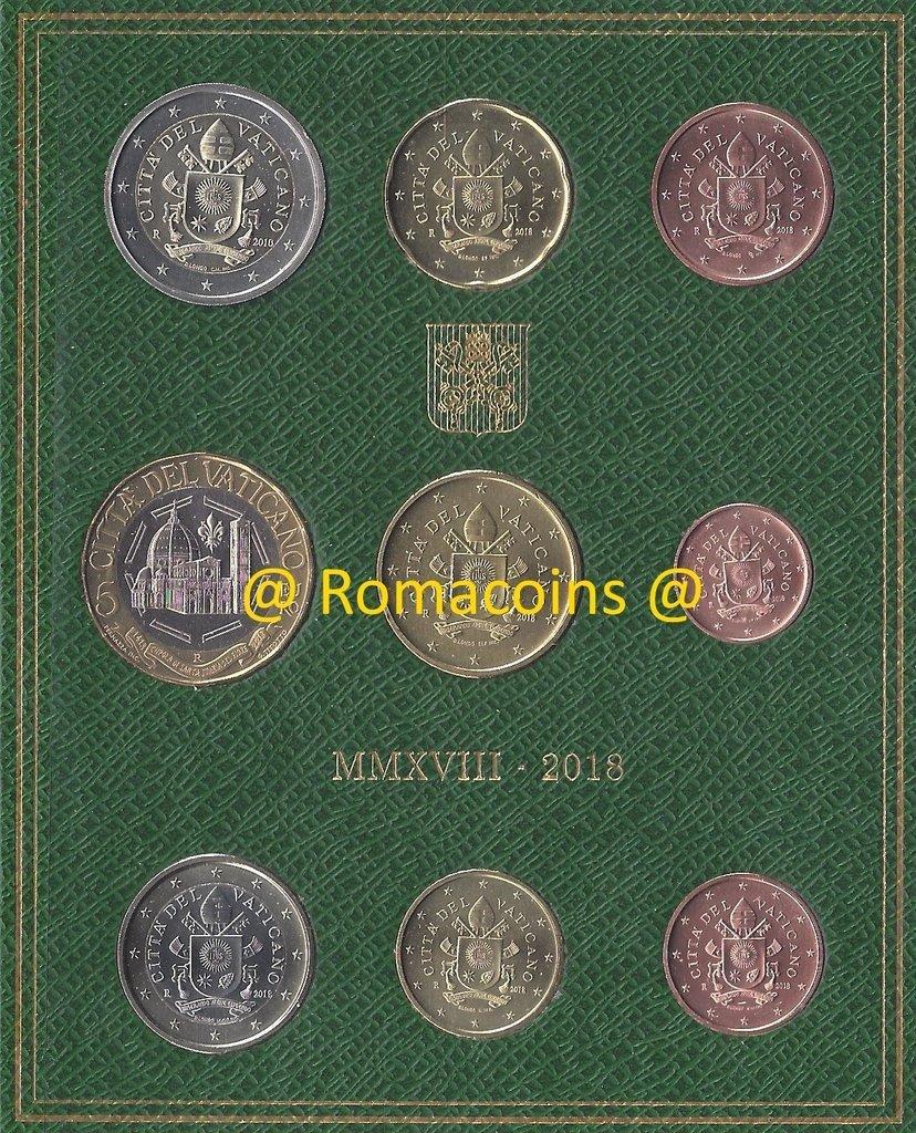 Vatikan Kms 2018 Kursmünzensatz 5 Euro Münze Stempelglanz Romacoi