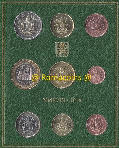 Vatican Bu Set 2018 with 5 Euro Coin Bimetallic New