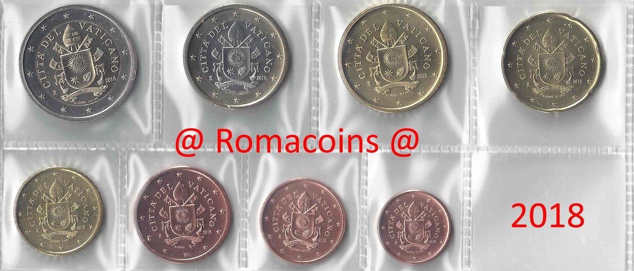 8 coins 2 euro 2017 UNC Spain euro full set : 1 cent