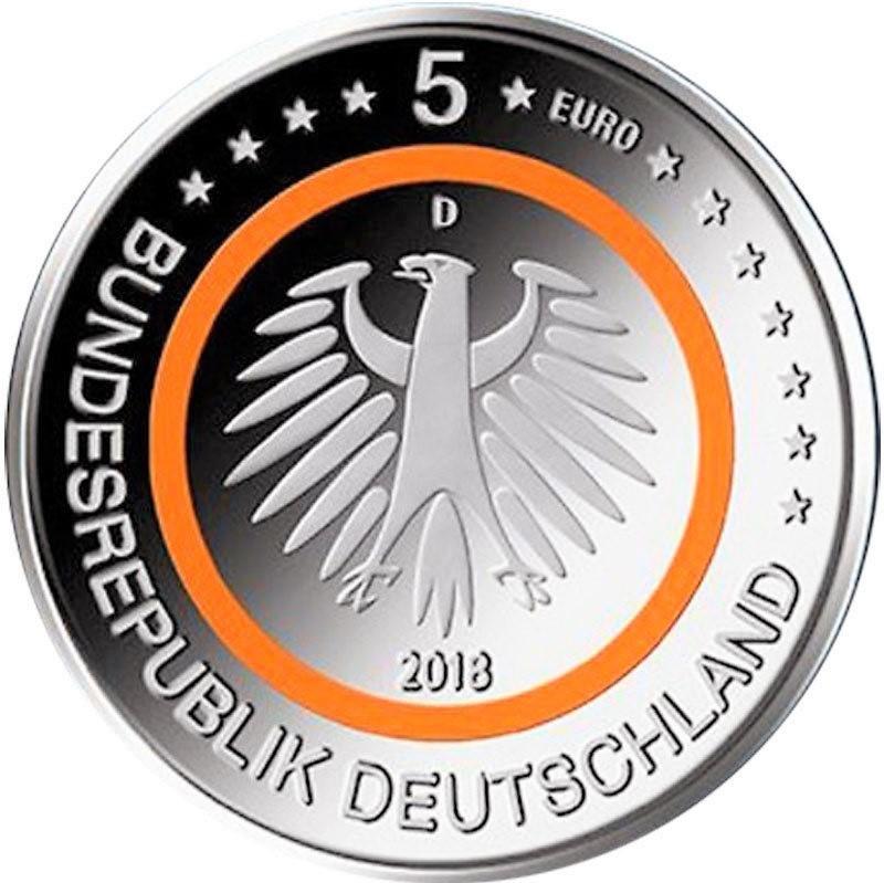 5 Euro Deutschland 2018 Subtropische Zone Münze Unc Romacoins