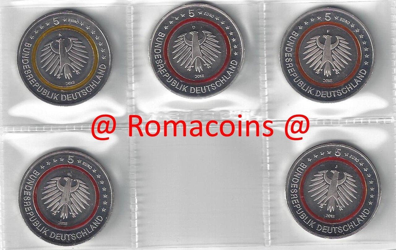 5 Euro Deutschland 2018 Subtropische Zone Münzen 5 Sachsen Romaco