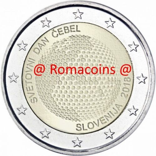 14d6dbac3e 2 Euro Commemorativi Slovenia 2018 Giornata Mondiale Api Romacoin