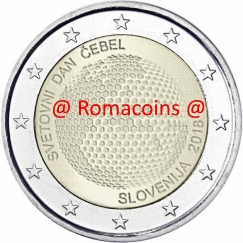 2 Euro Sondermünze Slowenien 2018 Weltbienen Tag Romacoins