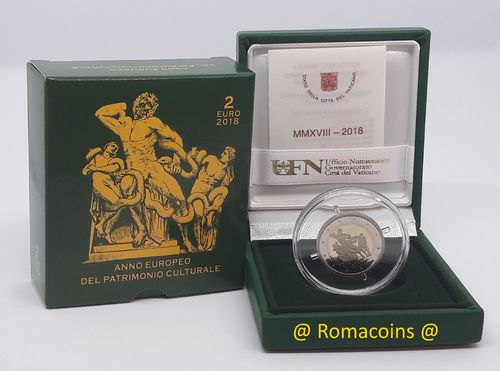 2 Euro Commemorative Coin Vatican 2018 Proof Cultural Heritage