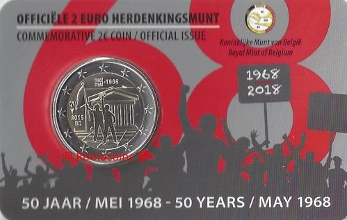 2 Euros Conmemorativos Belgica Monedas Romacoins
