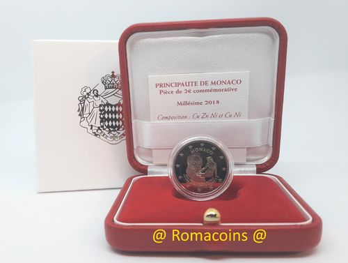 2 Euro Commemorative Coin Monaco 2018 Bosio Proof
