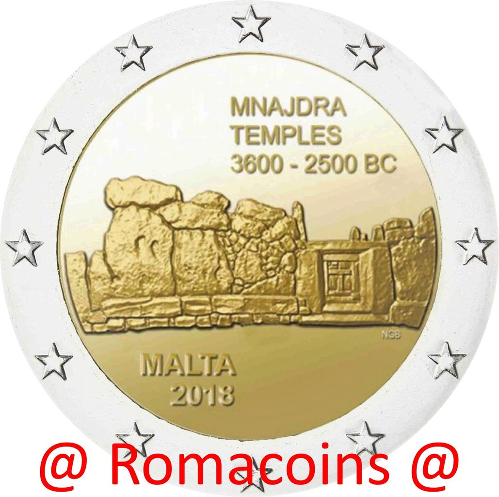 2 Euro Sondermünze Malta 2018 Mnajdra Tempel Münze Unc