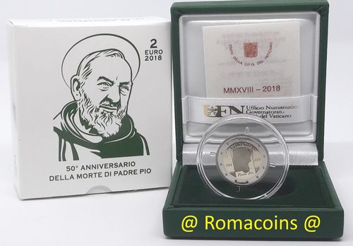 2 Euro Commemorative Coin Vatican 2018 Father Pio Proof