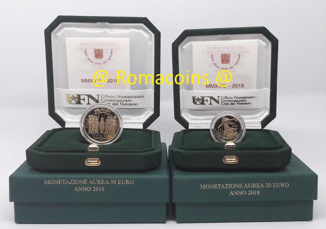 Vaticano 20 50 euro 2018 oro fondo specchio proof romacoins - Sterlina oro 2017 fondo specchio ...