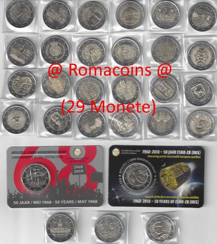Komplettsatz 2 Euro Sondermünzen 2018 29 Münzen Romacoins
