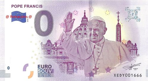 Tourist Banknote 0 Euro - Pope Francis