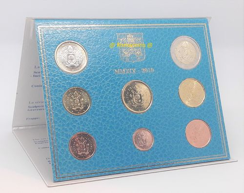 Vatican Bu Set 2019 with Pope's Coat of Arms Euro New