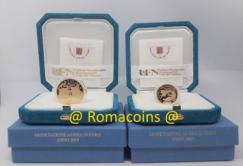 Vatican 20 + 50 Euro 2019 Gold Coins Proof