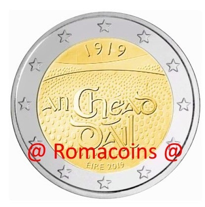 2 Euro Commemorative Coin Ireland 2019 100 Years Dáil Éireann