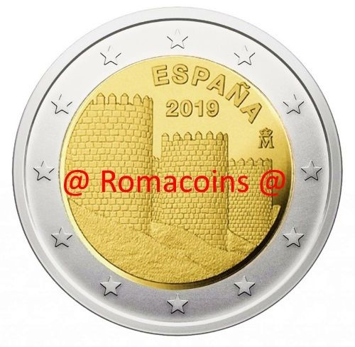 2 Euro Commemorative Coin Spain 2019 Wall of Ávila